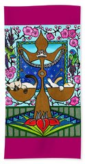 Libra Cat Zodiac Beach Towel