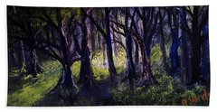 Light In The Forrest Beach Towel