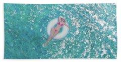 Beach Towel featuring the painting Lightness Of Being by Eva Konya