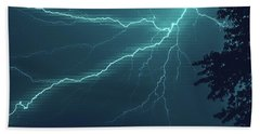 Lightning Grid Beach Towel