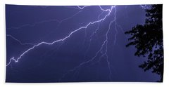 Lightning Beach Towel