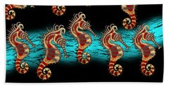 Like Musical Notes Upon The Sea Beach Towel
