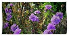 Lilac Jelly Pincushion Beach Towel