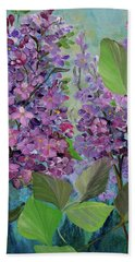 Lilac Love Beach Sheet