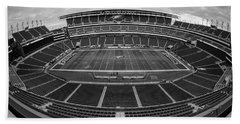 Lincoln Financial Field Black And White Beach Towel