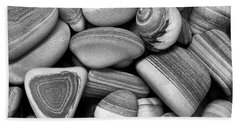 Beach Towel featuring the photograph Lined Rocks And Shell by John Rodrigues