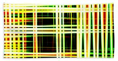 Lines And Squares In Color Waves - Plb418 Beach Towel