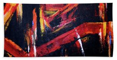 Lines Of Fire Beach Towel