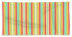 Lines Or Stripes Vintage Or Retro Color Background - Dde589 Beach Towel