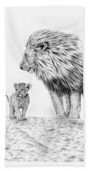 Lion And Cub Beach Sheet