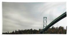 Lions Gate Bridge Vancouver Beach Towel