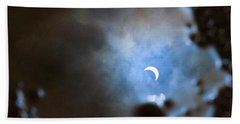 Liquified Solar Eclipse Beach Towel