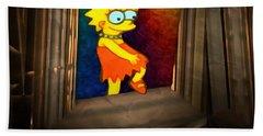 Lisa Steps Out Beach Towel