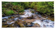 Beach Towel featuring the photograph Little Deer Creek by TL Mair