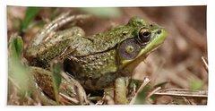 Little Green Frog Beach Towel