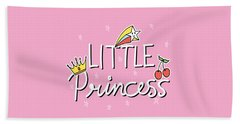 Little Princess - Baby Room Nursery Art Poster Print Beach Towel