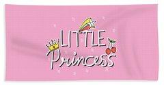 Little Princess - Baby Room Nursery Art Poster Print Beach Sheet