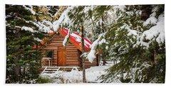 Little Red Riding Hood Cabin Beach Towel
