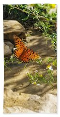 Beach Towel featuring the photograph Little River Canyon Butterfly  by Rachel Hannah