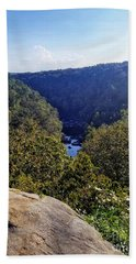 Beach Towel featuring the photograph Little River Canyon Overlook Alabama by Rachel Hannah