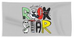 Little Rock Star - Baby Room Nursery Art Poster Print Beach Towel