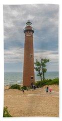 Little Sable Point Lighthouse Beach Towel