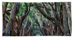 Live Oaks Spanish Moss Hilton Head Island South Carolina Beach Towel