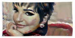 liza Minelli Beach Towel