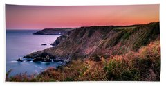 Lizard Point Sunset - Cornwall Beach Towel