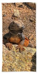 Lizard Portrait  Beach Towel