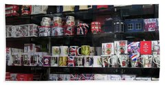 London England Shop Window Beach Sheet