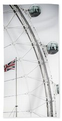 London Eye And Union Jack Beach Towel