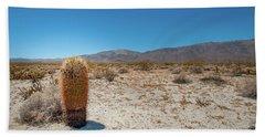 Lone Barrel Cactus Beach Towel