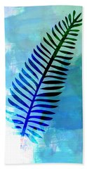 Lonely Leaf Watercolor II Beach Towel