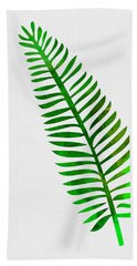 Lonely Tropical Leaf II Beach Towel