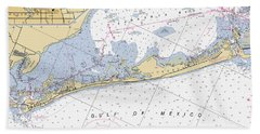 Longboat Ket Florida Noaa Nautical Chart Beach Towel