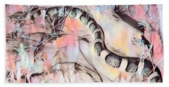 Beach Towel featuring the photograph Longnosed Snake - Rhinocheilus Lecontei by Judy Kennedy