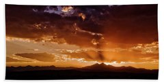 Longs Peak Sunset Beach Towel