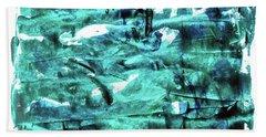 Look For The Blue Heart Beach Towel