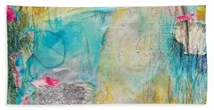Beach Towel featuring the painting Look How Far We've Come by Tracy Bonin