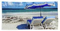 Beach Towel featuring the photograph Lounging On Orient Beach, St. Martin by Dawn Richards