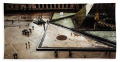 Louvre Pyramid Beach Sheet