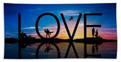 Love Concept Beach Towel