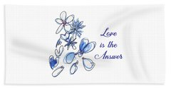 Love Is The Answer Beach Sheet