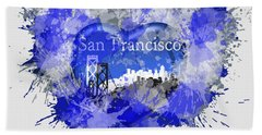 Beach Towel featuring the digital art Love San Francisco by Alberto RuiZ