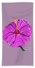 Lovely Pink Hibiscus Beach Towel