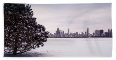 Lovely Winter Chicago Beach Towel