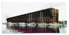 Lower Harbor Ore Dock At Marquette Michigan. Beach Towel