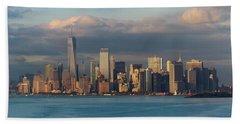 Lower Manhattan Panoramic Beach Towel
