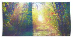Beach Towel featuring the digital art Lower Sabie by Jeff Iverson